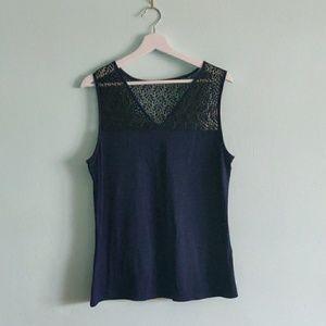 NWOT 41 Hawthorne Lyndah Lace Detail Knit Too